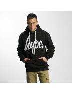 HYPE Hoody Aop Speckle zwart