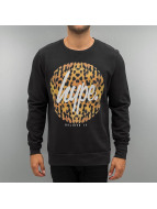 HYPE Pullover Cheetah Circle noir