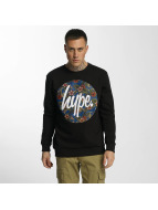 HYPE Pullover Flower Circle noir