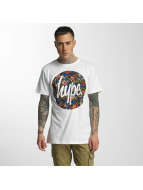 HYPE T-Shirt Flower Circle blanc