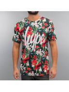 HYPE t-shirt Red Blossom Script Aop bont