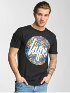HYPE T-Shirt Flower Circle schwarz