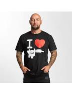 I Love Tattoo t-shirt Basic zwart