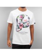 Ichiban T-paidat Floral Skull valkoinen