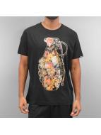 Ichiban T-shirt Floral Granade nero