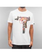 Ichiban t-shirt Floral Uzi wit