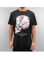 Ichiban t-shirt Floral Skull zwart