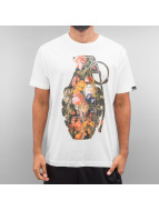 Ichiban T-Shirty Floral Granade bialy