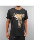 Ichiban T-Shirty Floral Uzi czarny