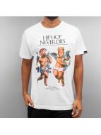 Ichiban T-skjorter Hip Hop Never Dies hvit