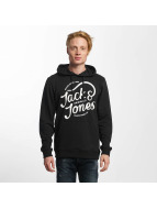 Jack & Jones Bluzy z kapturem jorCarry czarny