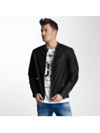 Jack & Jones Leather Jacket jorYour black