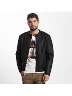 Jack & Jones Leather Jacket jcoTano black