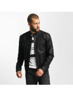 Jack & Jones Lederjacke jjorOriginals PU Leather schwarz