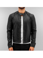 Jack & Jones leren jas jorOriginal zwart