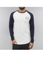 Jack & Jones Longsleeve jjClosed Raglan weiß