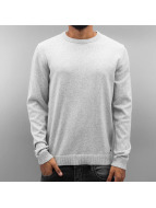Jack & Jones jjcoTwisting Knit Sweatshirt Light Grey Melange