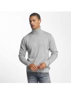 Jack & Jones Pullover jorLinking Knit Roll Neck grau