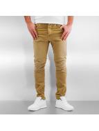 Jack & Jones Slim Fit Jeans jjIluke jjEcho JOS 999 hnedá