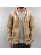 Jack & Jones Sweat à capuche zippé jorStorm Sweat beige