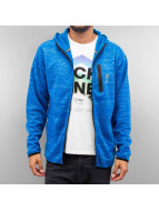 Jack & Jones Sweat à capuche zippé jcoKeep bleu