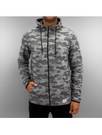 Jack & Jones Sweat à capuche zippé jcoCamo gris