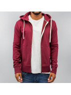 Jack & Jones Sweat à capuche zippé Storm rouge