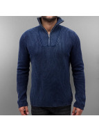 Jack & Jones jorArnold Knit Zip High Neck Sweatshirt Navy Blazer