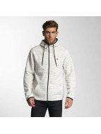 Jack & Jones Sweat capuche zippé jcoCarbon blanc