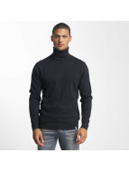 Jack & Jones Swetry jorLinking Knit Roll Neck niebieski