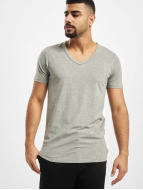 Jack & Jones T-Shirt Core Basic V-Neck grey