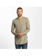 Jack & Jones T-Shirt manches longues jorStitch brun