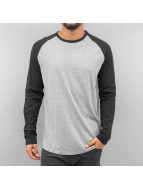 Jack & Jones T-Shirt manches longues jjorStan gris