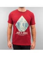 Jack & Jones T-Shirt jorLook rot