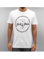 Jack & Jones T-Shirts jorNew Raffa beyaz