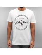 Jack & Jones T-Shirts jorNew Raffa beyaz