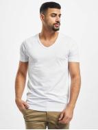 Jack & Jones T-Shirts Core Basic V-Neck beyaz