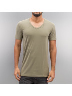 Jack & Jones T-Shirts Basic V-Neck yeşil