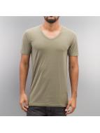Jack & Jones T-Shirts Basic V-Neck yeşil