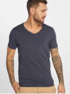 Jack & Jones T-Shirty Core Basic V-Neck niebieski