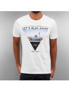 Jack & Jones T-skjorter jorRoad Trip hvit