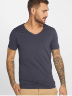 Jack & Jones Tričká Core Basic V-Neck modrá