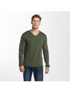 Jack & Jones trui jorEasy Knit olijfgroen