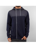 Jack & Jones Zip Hoodie Troy Knit blå