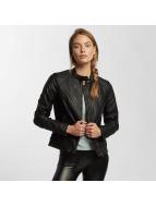 JACQUELINE de YONG Kožené bundy jdyRiga Faux Leather čern