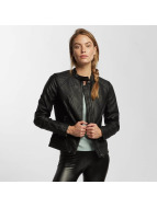 JACQUELINE de YONG Leather Jacket jdyRiga Faux Leather black
