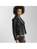 JACQUELINE de YONG Leather Jacket jdyAlana black