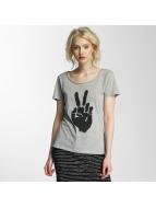 JACQUELINE de YONG T-shirtar jdyGlow Print grå