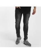 John H Slim Fit Jeans Zipper čern