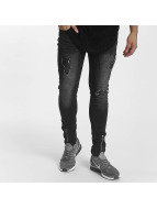 John H Slim Fit Jeans Zipper black